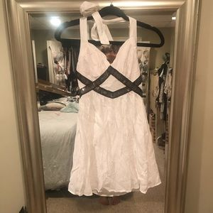 Bebe white formal party dress